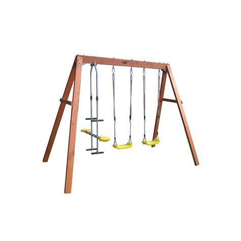 wooden glider swing kids play equipment wooden swing set with glider buy