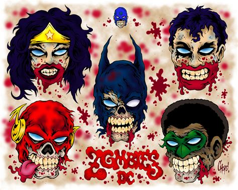 cartoon zombie tattoo flash dc zombies tattoo flash by monsterink on deviantart