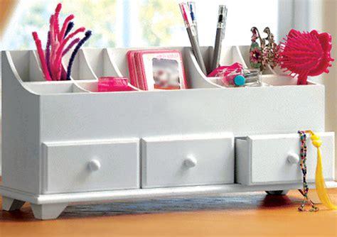 Drawer Tidies Bedroom by White Wooden Desk Tidy Organiser Caddy Pen Holder Tidy
