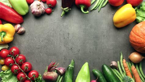 Moving Vegetables On Kitchen Table, Harvest Background