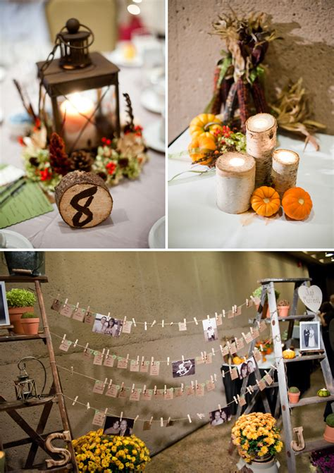 home made fall decorations rustic diy fall wedding every last detail