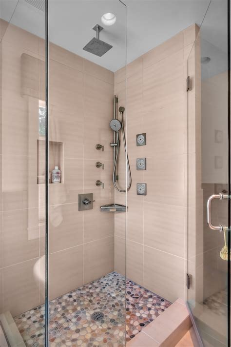 Shower To Bath Multi Shower Bathroom Contemporary With Handshower