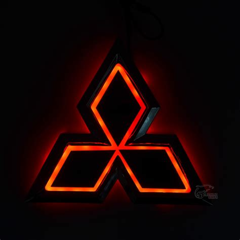 mitsubishi symbol meaning new car 5d rear badge bulb emblem logo light for