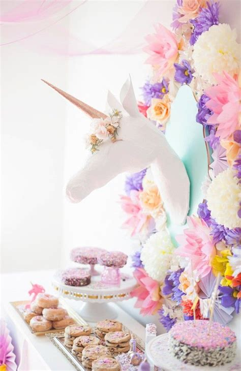 magical unicorn inspired home decor ideas love this unicorn party theme spring summer