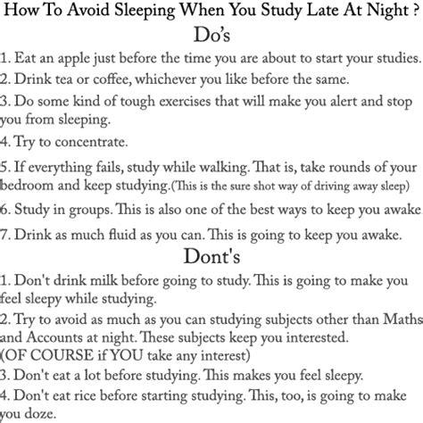 How To Stop Being A Sleeper topsleepingtips sleep when studying how to avoid sleep