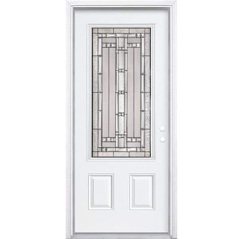 Home Depot Canada Doors Exterior Masonite 34 Inch X 80 Inch X 4 9 16 Inch Antique Black 3 4 Lite Right Entry Door With