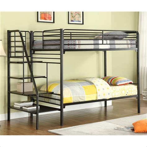 bunk beds with futon underneath full over futon bunk bed with stairs