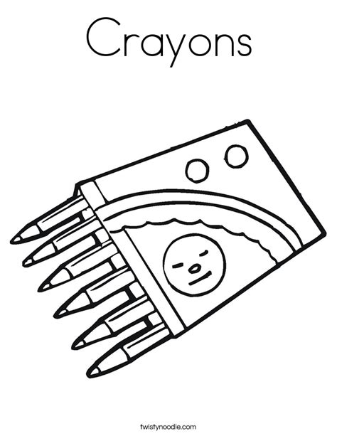 free coloring pages of crayons