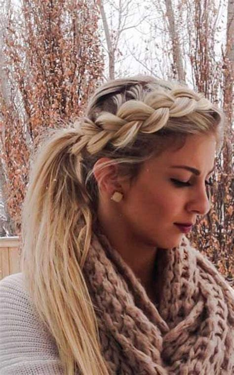 french braid 6 hairs cute ponytail hairstyles hair