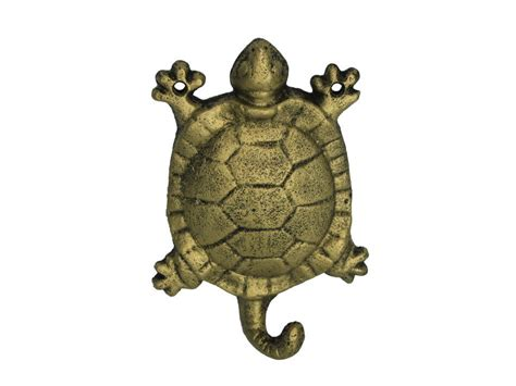 Cast Iron Decor Wholesale by Buy Rustic Gold Cast Iron Turtle Hook 6 Inch Wholesale
