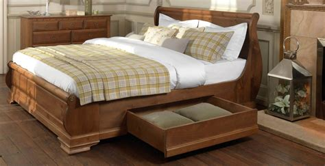 Wooden Sleigh Bed Wooden Sleigh Bed Lalique Wooden Sleigh Bed 4ft 6 5ft 6ft Uk Delivery Chambery Cherry Wooden