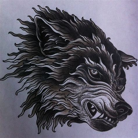 mean wolf tattoo design best tattoo designs