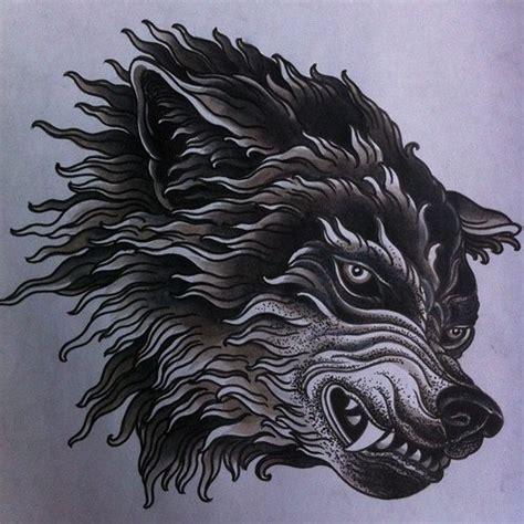 mean wolf tattoo design best tattoo designs