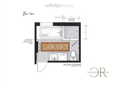and bathroom floor plan creed before after e design bathroom project plan