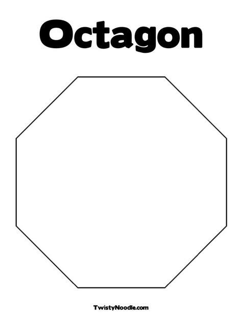 octagon template printable octagon printable coloring pages