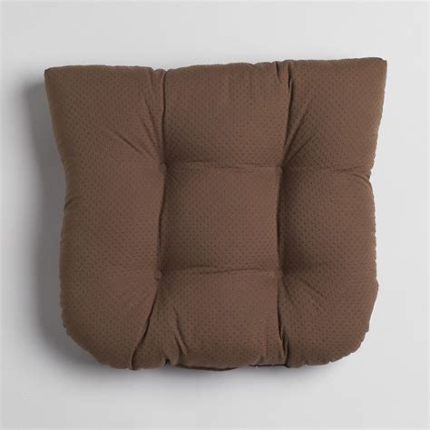 Foam Chair Pads by Essential Home Memory Foam Chair Cushion Brown Chair Pads