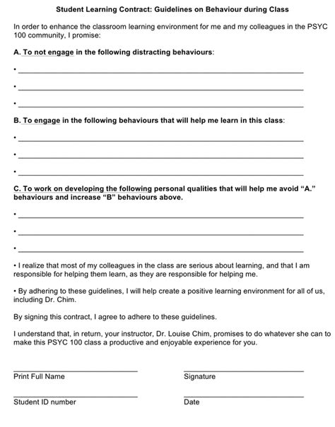 student contract template how do you deal with disruptive students consider