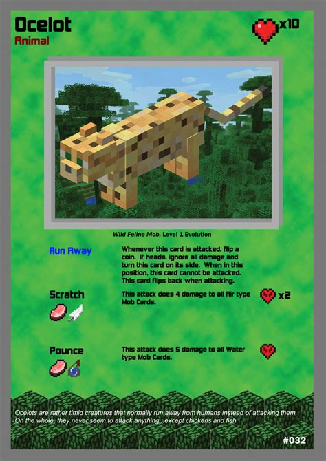 Where To Buy A Minecraft Gift Card - minecraft tcg 032 ocelot by acaroa on deviantart