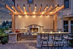 outdoor kitchen lighting ideas let there be light pergola lighting and design ideas