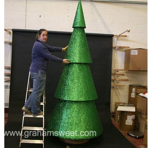 giant polystyrene christmas cone tree