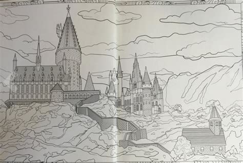 harry potter coloring book magical places the third harry potter coloring book lets you explore the
