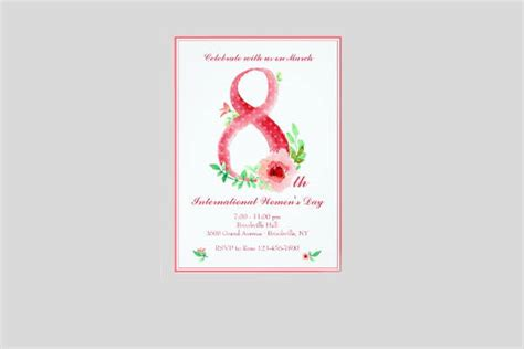 12 Women S Day Invitation Templates Free Premium Templates S Day Invitation Template