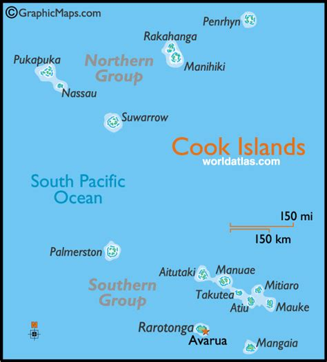 cook islands map information about cook island tropical island getways