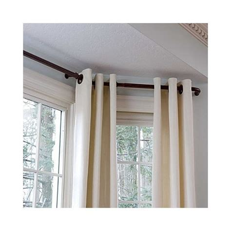 eyelet curtains on bay window 38 best bay window ideas curtains and rods images on
