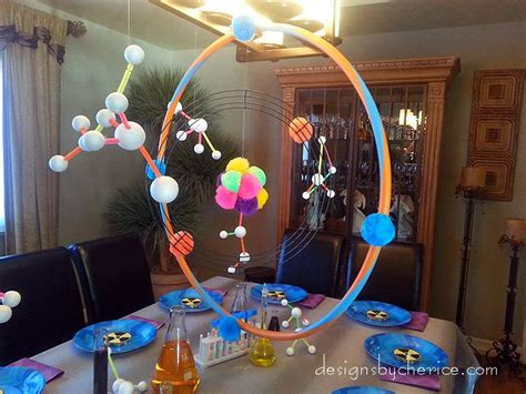 birthday decorations at home photos molecules theme event decor google search science