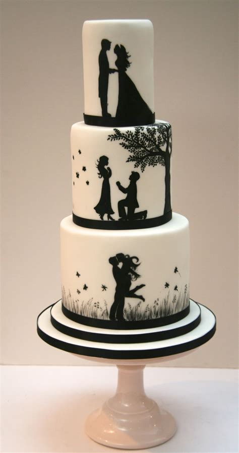 Engagement Cake Pictures by Silhouette Wedding Cake Etoile Bakery