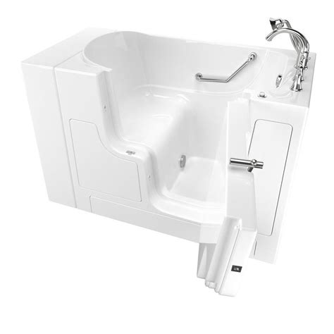 american standard walk in bathtub shop american standard 52 in white gelcoat fiberglass walk