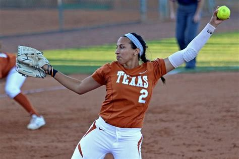college softball hairstyles texas shuts out temple college in 7 0 win the daily texan