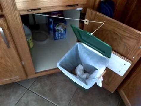 under sink garbage can under sink garbage bin youtube
