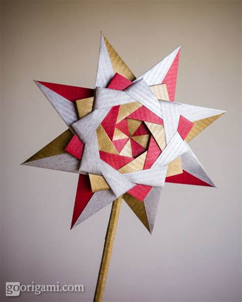 Modular Origami Tree - braided corona by sinayskaya