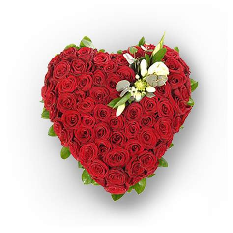 Floral Arrangement Ideas by Sensational Heart Shape Arrangement With Red Roses From