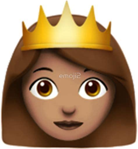 emoji queen quot emoji queen brunette quot stickers by emoji2 redbubble