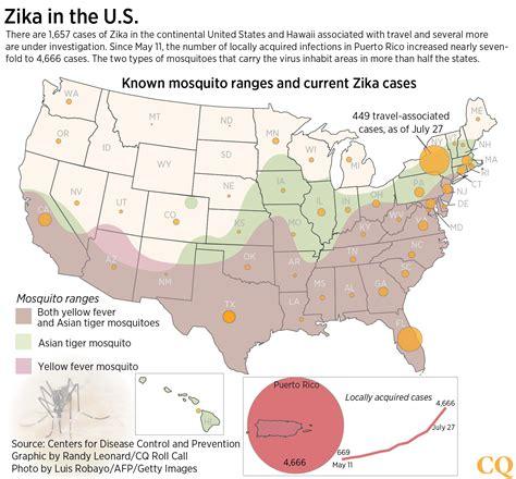 mosquito map usa zika transmission cases within united states hit florida