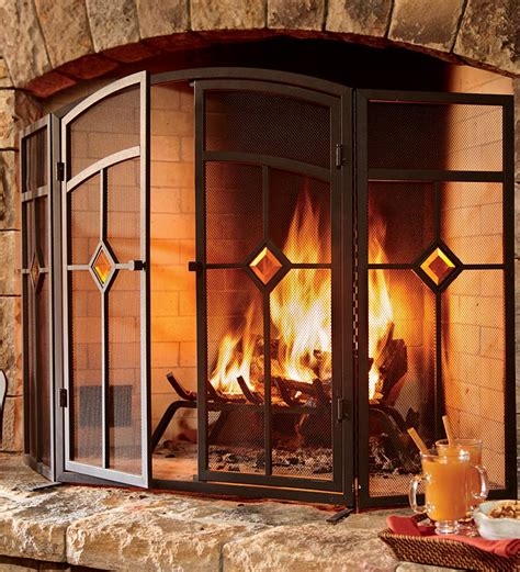 plow and hearth fireplace screens fireplace screens flat guards fireplace screens with