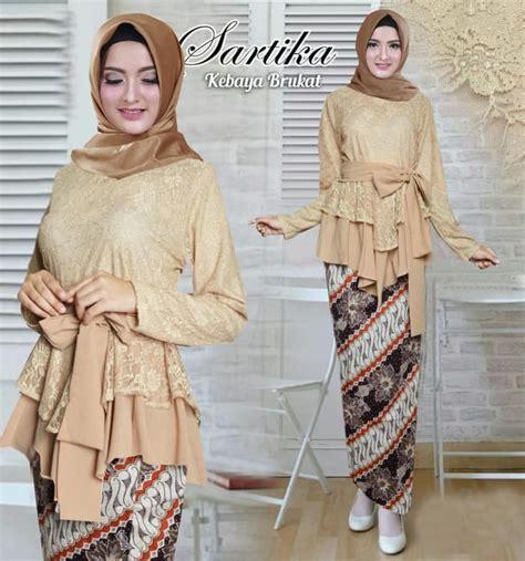 Setelan Kebaya Modern Mysha Tosca setelan kebaya brokat batik sartika coksu baju gamis