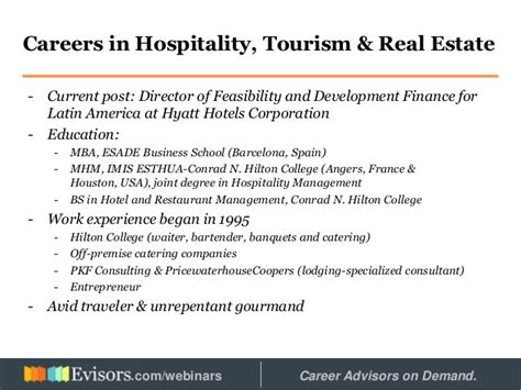 Director Psu Mba Real Estate Studies Program by Careers In Hospitality Tourism And Real Estate