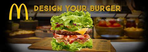 design banner burger mcdonald s australia adds lettuce burgers and quot create your