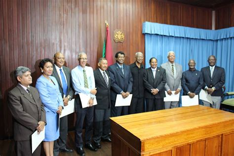 Guyana Cabinet by President Granger Defends Greying Cabinet As Experienced