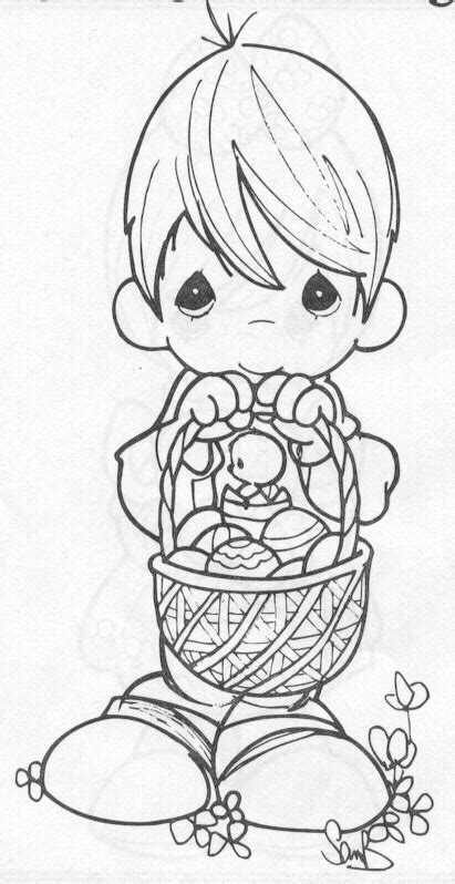 Precious Moments Coloring Pages Easter suzi q s easter coloring page