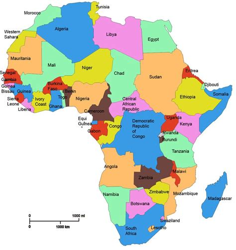 africa map by country best 25 countries names ideas on