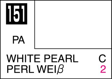 Mr Color 151 Pearl White mr color paint white pearl 10ml c151 gsi c 151 gunze