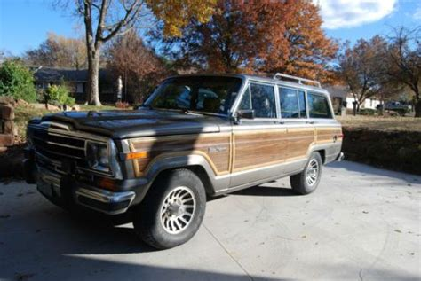 1987 jeep wagoneer interior buy used 1987 jeep grand wagoneer silver with cordovan