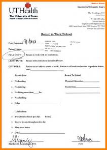 5 printable doctors notes for work day care receipts