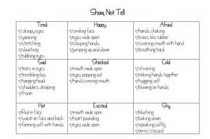 Show Essay Exle by S Teaching Tools Show Not Tell