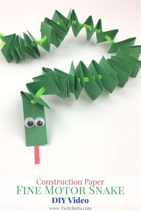 pattern construction paper construction paper fine motor snakes video construction