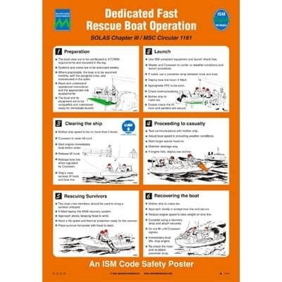 fast boat rescue training dedicated fast rescue boat operation buy safety poster here